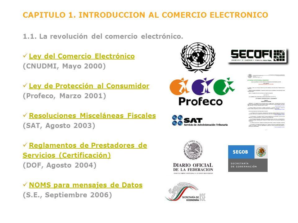 CAPITULO 1. INTRODUCCION AL COMERCIO ELECTRONICO 1.1. La revolución del comercio electrónico. Ley del Comercio Electrónico (CNUDMI, Mayo 2000) Ley de
