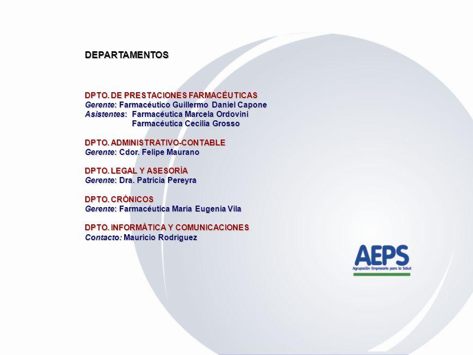 ANTECEDENTES CONTRACTUALES FARMACÉUTICOS OBRA SOCIAL PERSONAL RURAL Y ESTIBADORES DE LA REP. ARGENTINA OBRA SOCIAL PERSONAL RURAL Y ESTIBADORES DE LA