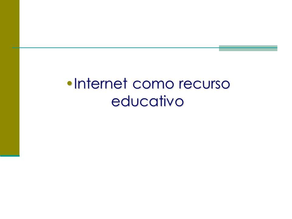 Internet como recurso educativoInternet como recurso educativo