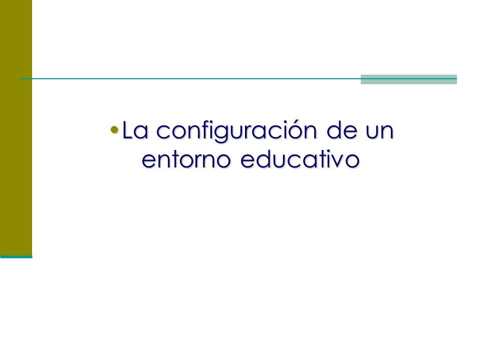La configuración de un entorno educativoLa configuración de un entorno educativo