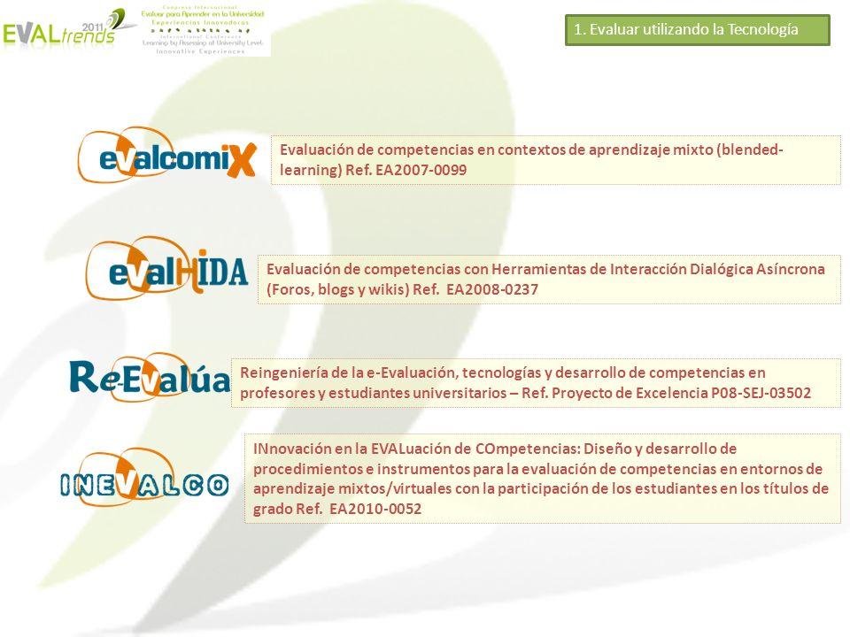 Evaluación de competencias en contextos de aprendizaje mixto (blended- learning) Ref. EA2007-0099 Evaluación de competencias con Herramientas de Inter