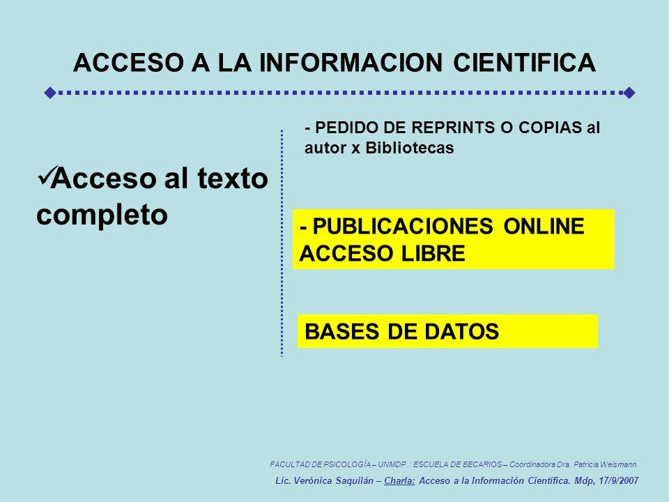 FACULTAD DE PSICOLOGÍA – UNMDP..ESCUELA DE BECARIOS – Coordinadora Dra.