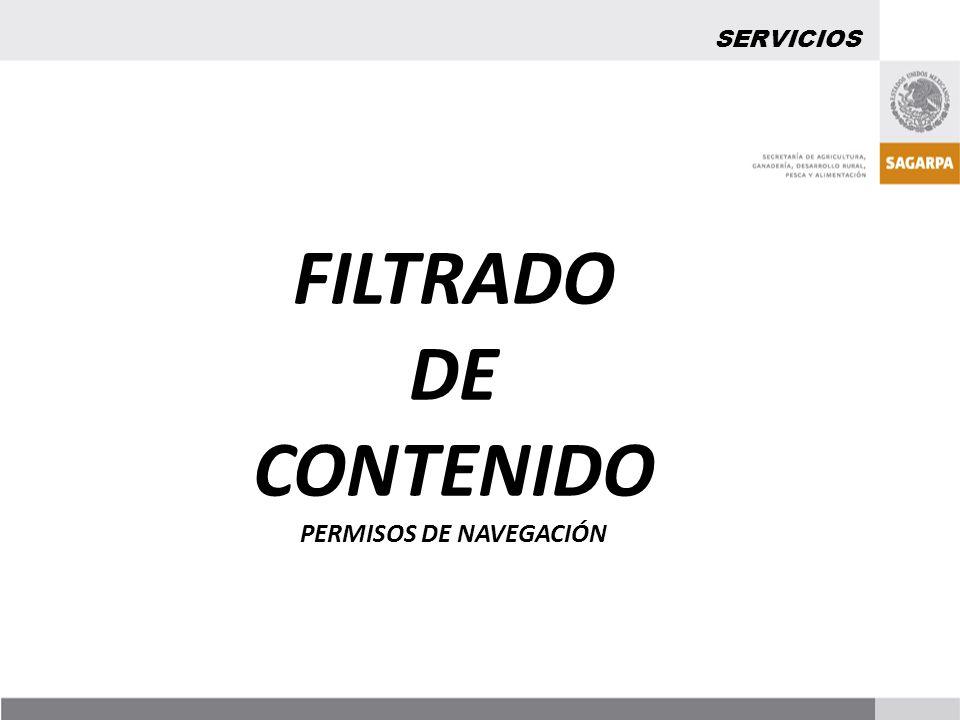FILTRADO DE CONTENIDO PERMISOS DE NAVEGACIÓN SERVICIOS