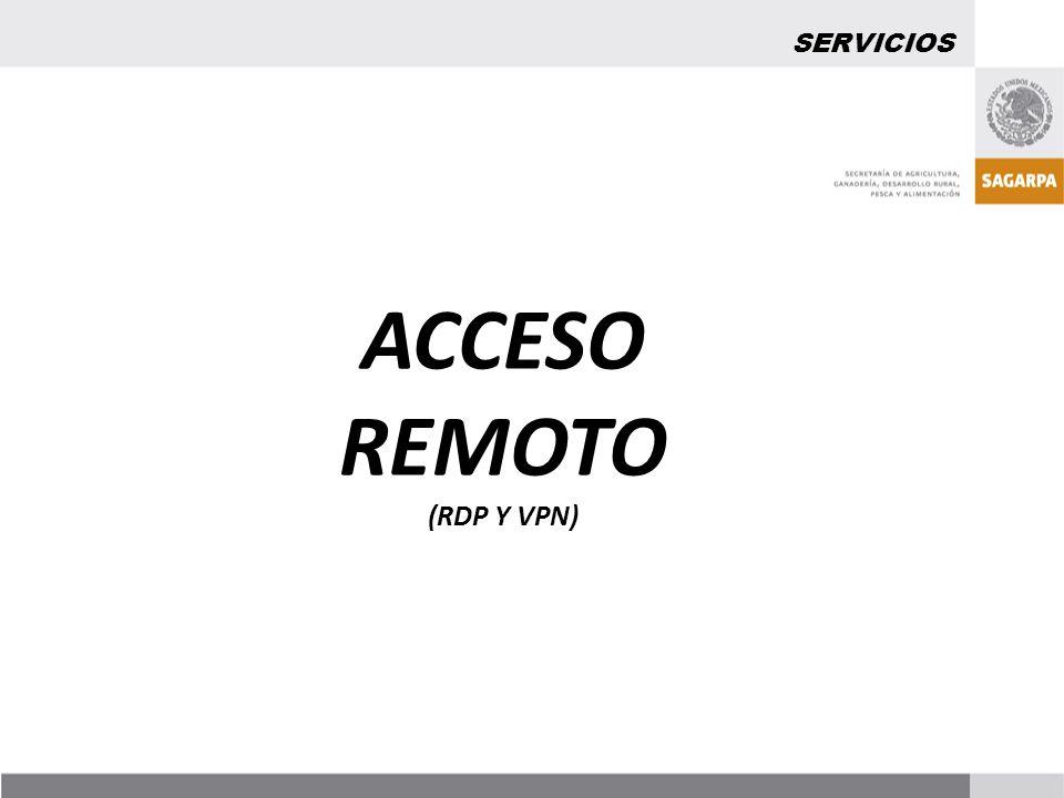 ACCESO REMOTO (RDP Y VPN) SERVICIOS