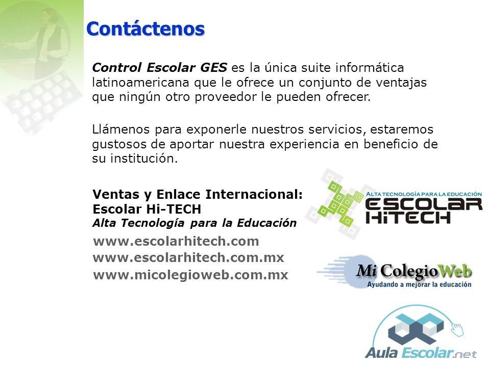 Referencias Los productos Control Escolar GES, se usan hoy en día en más de 350 instituciones en México, Guatemala, Honduras, El Salvador, Chile y Arg