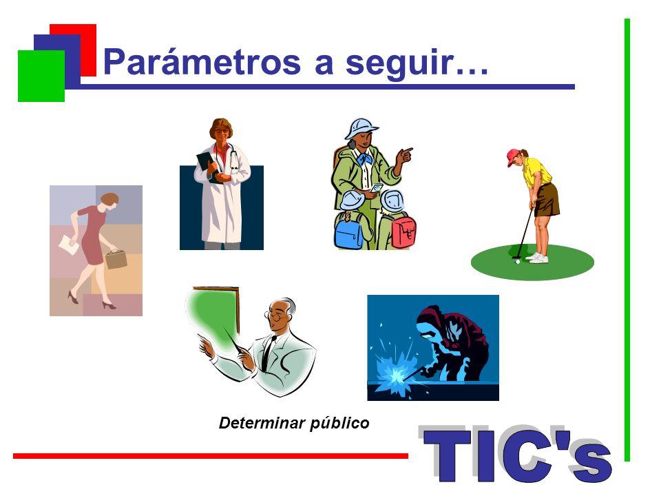 Parámetros a seguir… Determinar público