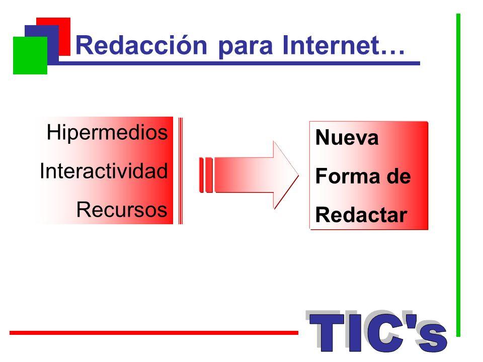 Hipermedios Interactividad Recursos Nueva Forma de Redactar Redacción para Internet…