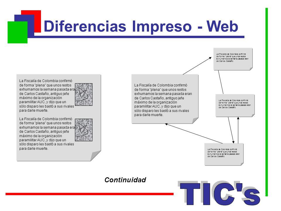 Diferencias Impreso - Web La Fiscalía de Colombia confirmó de forma