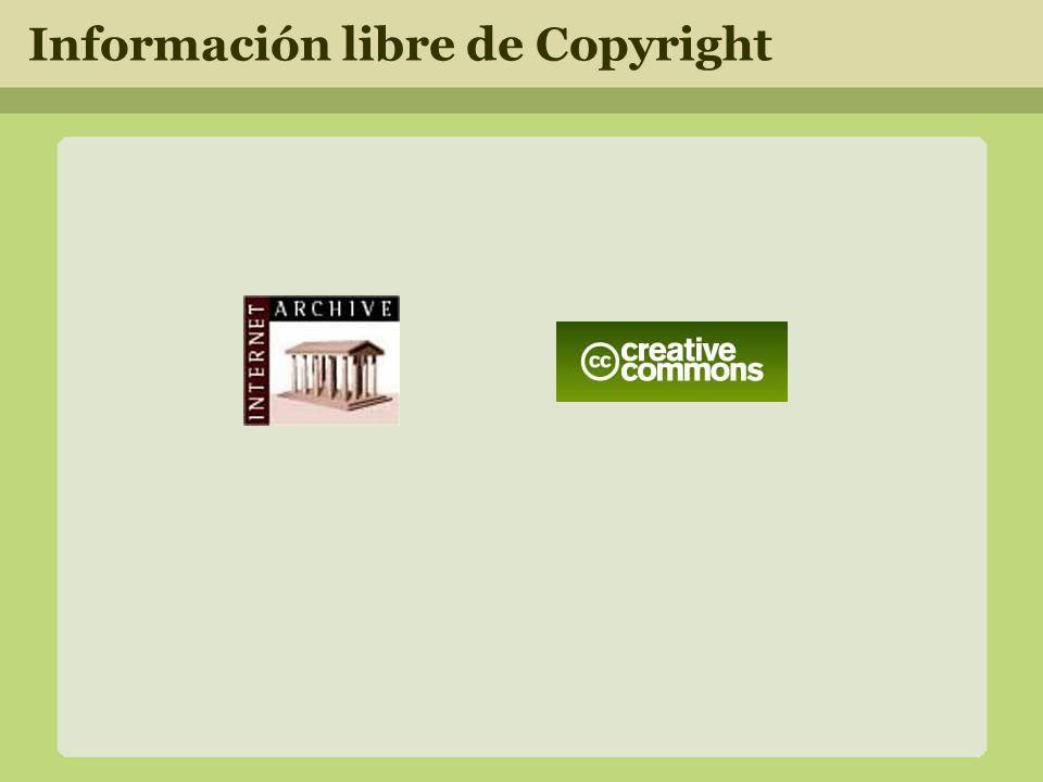 Información libre de Copyright