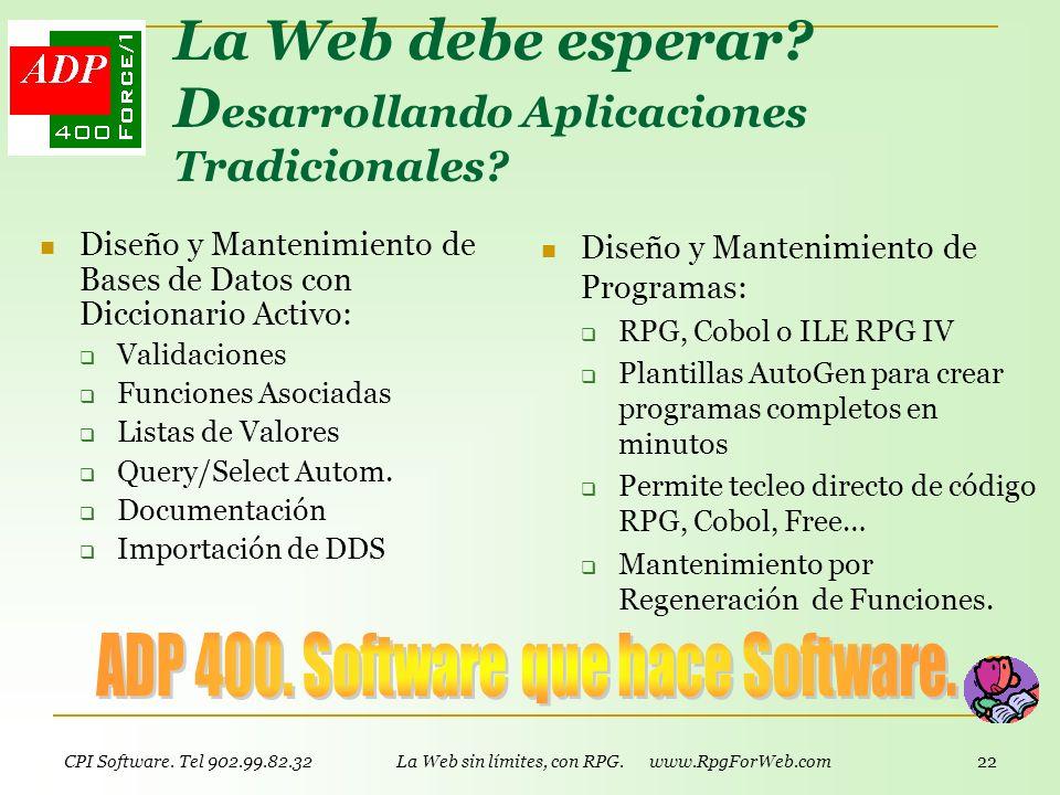 CPI Software. Tel 902.99.82.32 www.CoPrint.info - Impresionante Impresión 21 Modernizar Aplicaciones CPI API Office permite generar documentos Excel y
