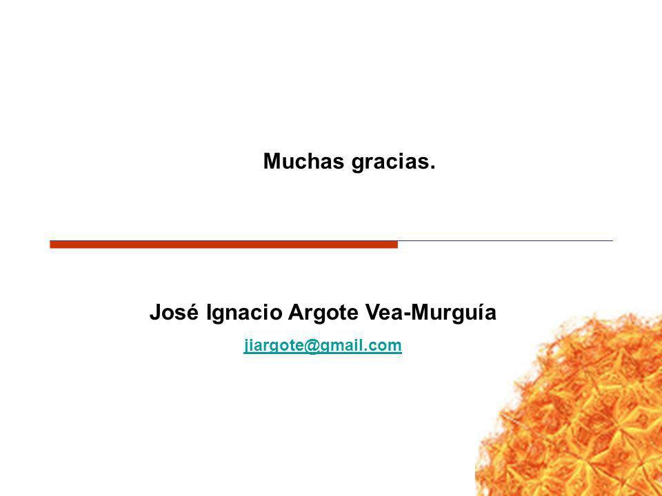 José Ignacio Argote Vea-Murguía jiargote@gmail.com Muchas gracias.