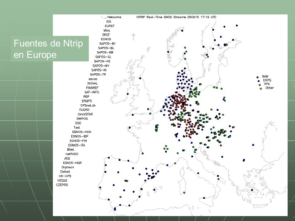 Fuentes de Ntrip en Europe
