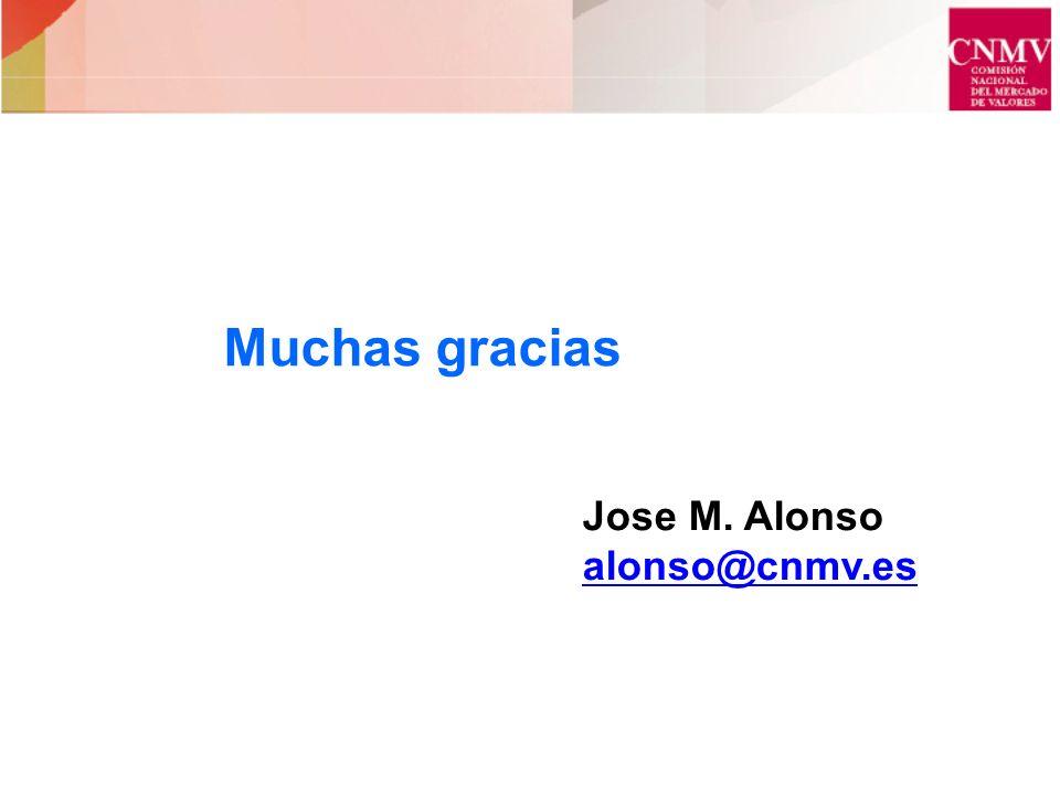 Muchas gracias Jose M. Alonso alonso@cnmv.es