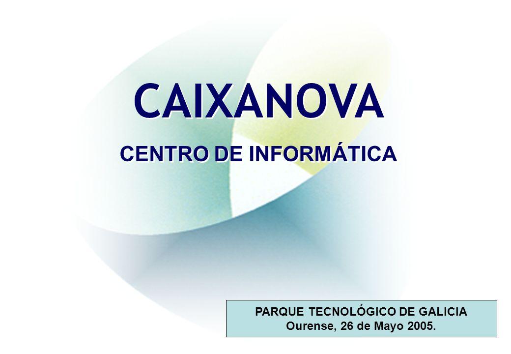 CAIXANOVA CENTRO DE INFORMÁTICA CAIXANOVA CENTRO DE INFORMÁTICA PARQUE TECNOLÓGICO DE GALICIA Ourense, 26 de Mayo 2005.