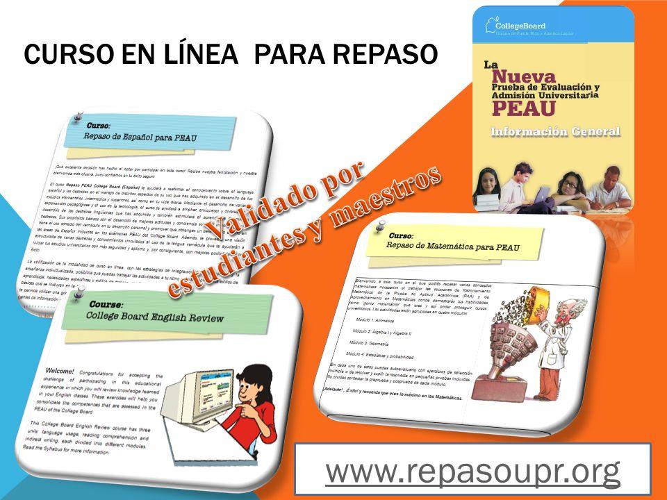 CURSO EN LÍNEA PARA REPASO www.repasoupr.org