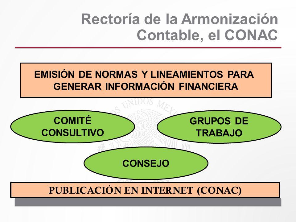 Rectoría de la Armonización Contable, el CONAC EMISIÓN DE NORMAS Y LINEAMIENTOS PARA GENERAR INFORMACIÓN FINANCIERA COMITÉ CONSULTIVO GRUPOS DE TRABAJ