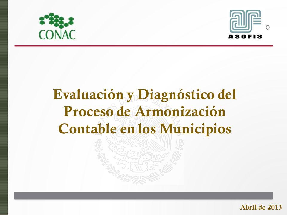 Título Evaluación y Diagnóstico del Proceso de Armonización Contable en los Municipios Abril de 2013