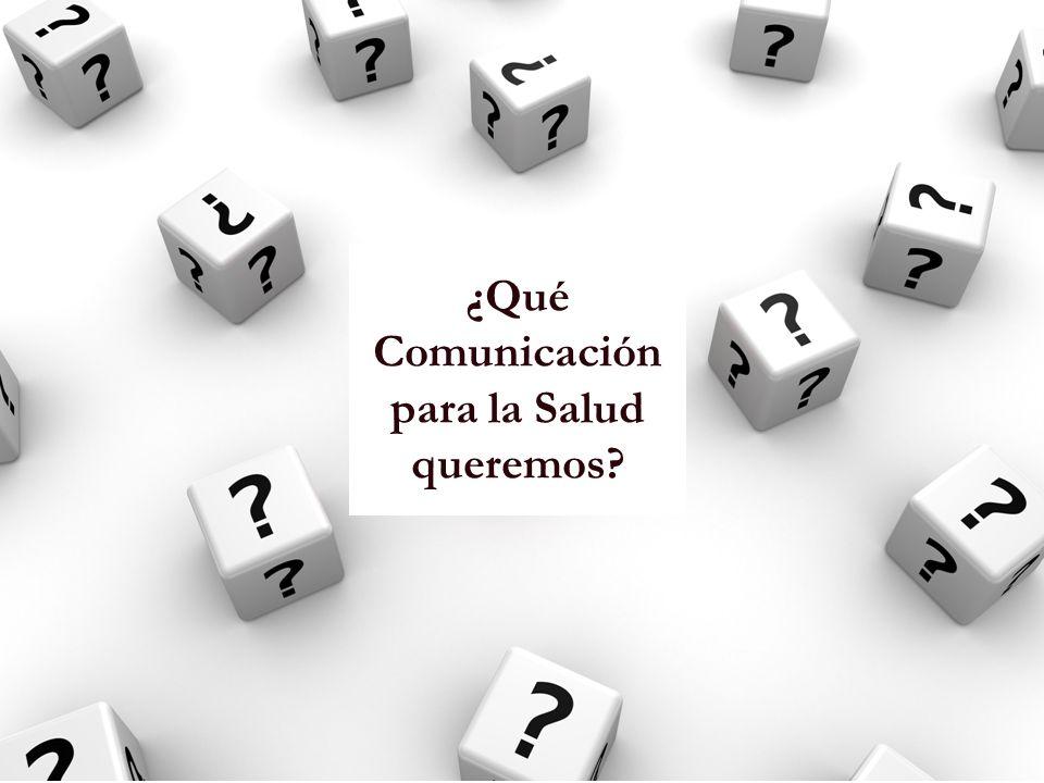 De los productos a los procesos La comunicación no es un instrumento, sino una perspectiva de abordaje de la realidad.