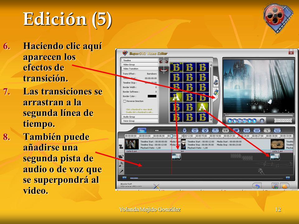 Yolanda Mejido González12 Edición (5) 6. Haciendo clic aquí aparecen los efectos de transición.