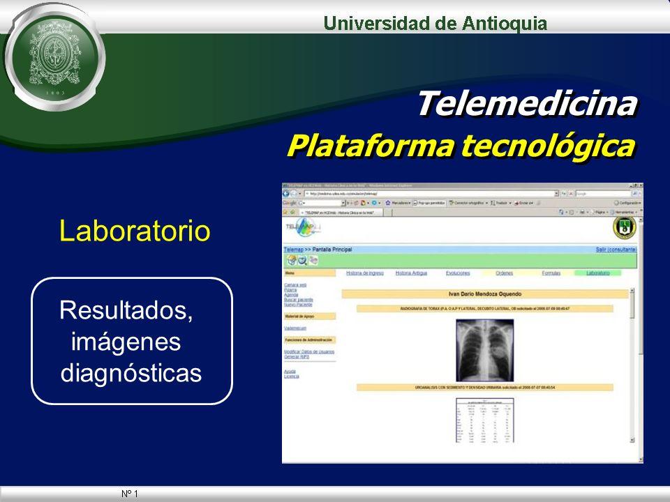 Laboratorio Telemedicina Plataforma tecnológica Resultados, imágenes diagnósticas