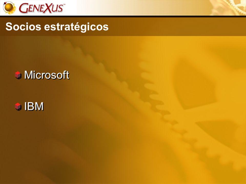 Socios estratégicos Microsoft IBM Microsoft IBM