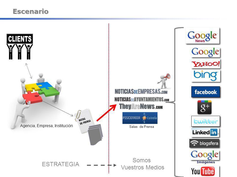 Escenario Agencia, Empresa, Institución Salas de Prensa ESTRATEGIA Somos Vuestros Medios