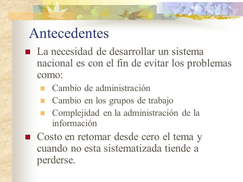 Antecedentes (cont.) Elaborado en el 2000 al mismo tiempo que se desarrollaba el inventario para 1994, 1996 y 1998.