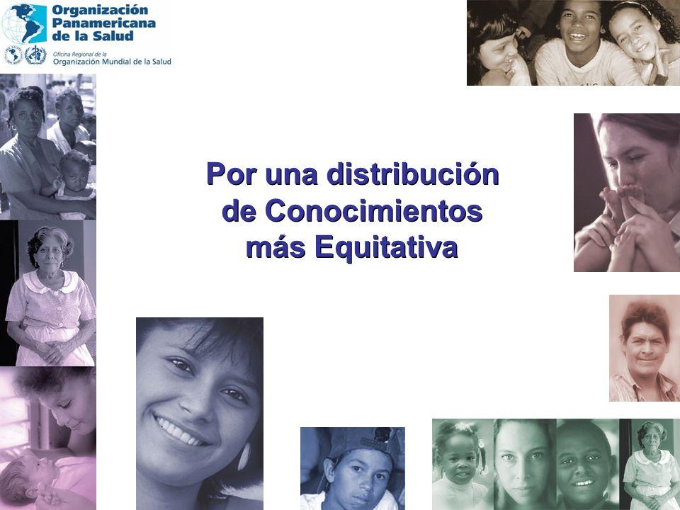 Por una distribución de Conocimientos más Equitativa Por una distribución de Conocimientos más Equitativa