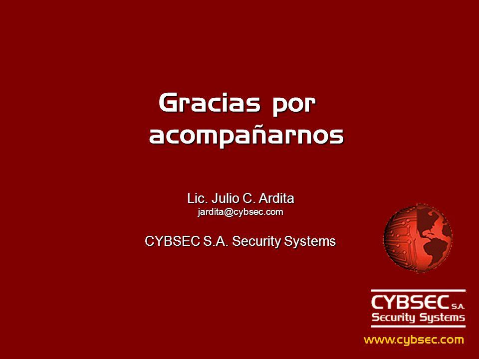 Gracias por acompañarnos www.cybsec.com Lic.Julio C.