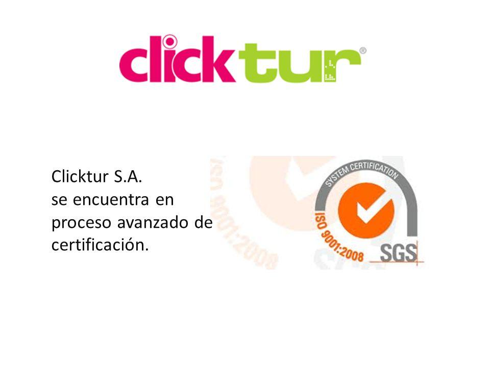 Qui Clicktur S.A. se encuentra en proceso avanzado de certificación.