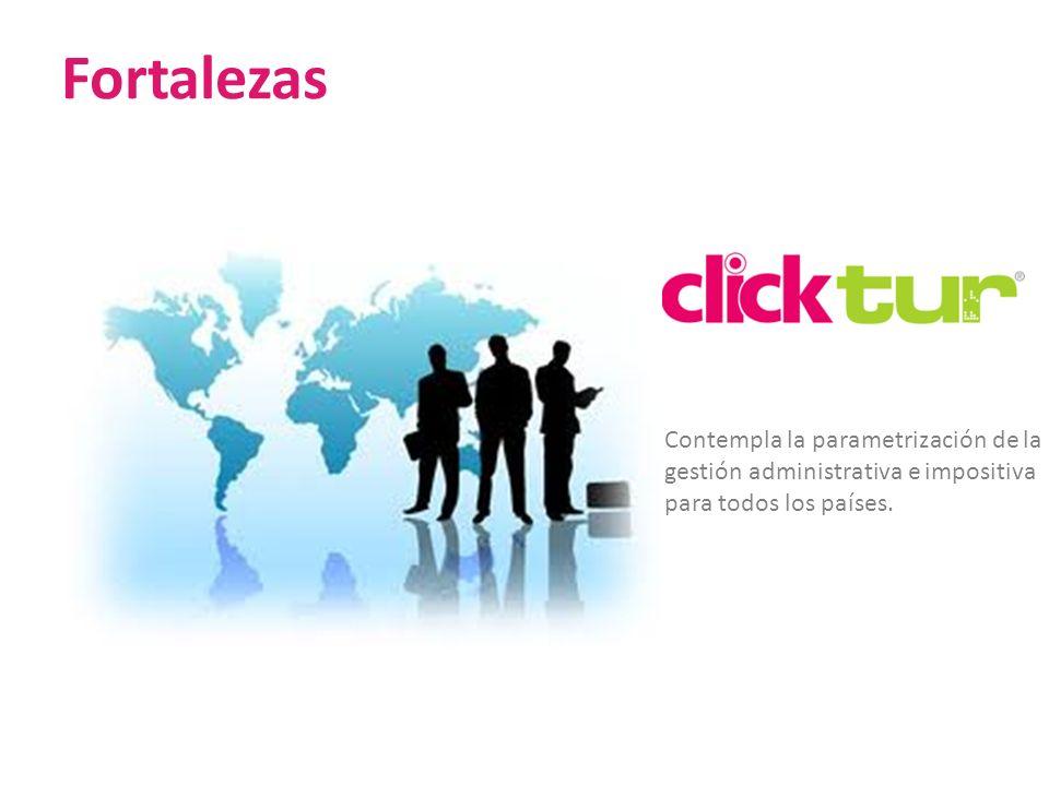 Fortalezas Contempla la parametrización de la gestión administrativa e impositiva para todos los países.