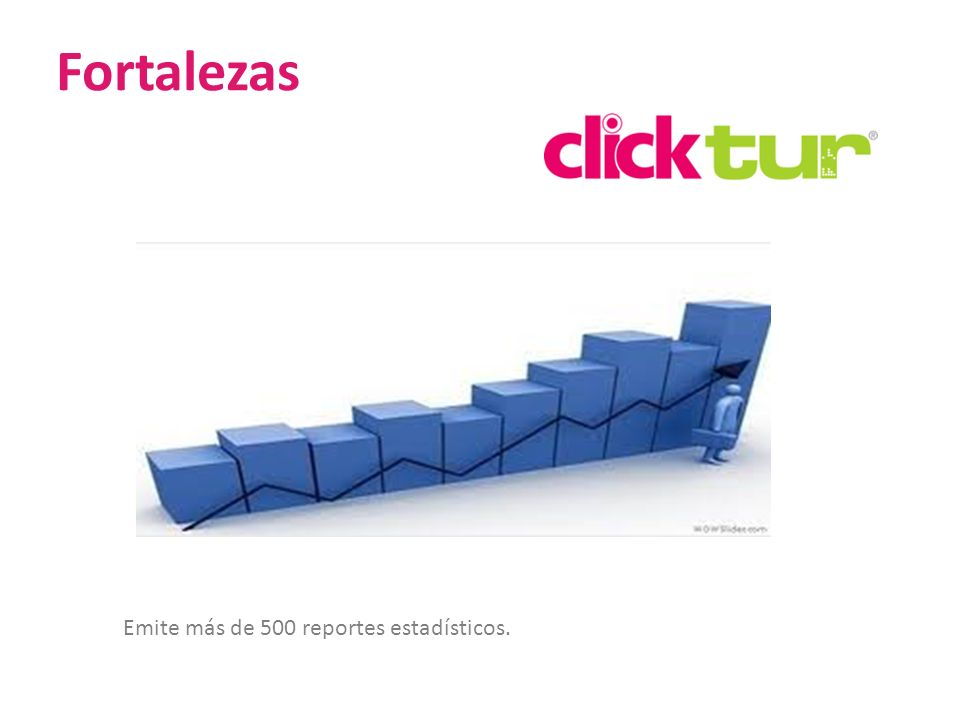Fortalezas Emite más de 500 reportes estadísticos.