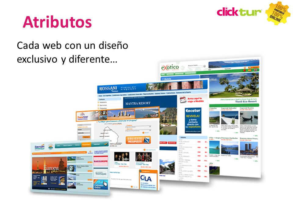 Cada web con un diseño exclusivo y diferente… TIPS Atributos