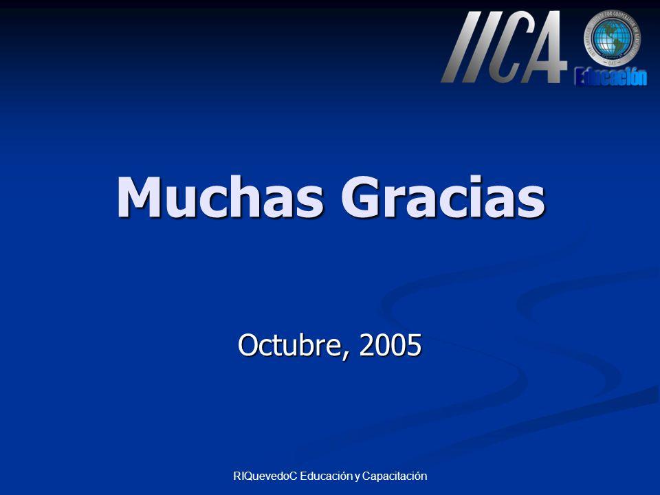 RIQuevedoC Educación y Capacitación Muchas Gracias Octubre, 2005