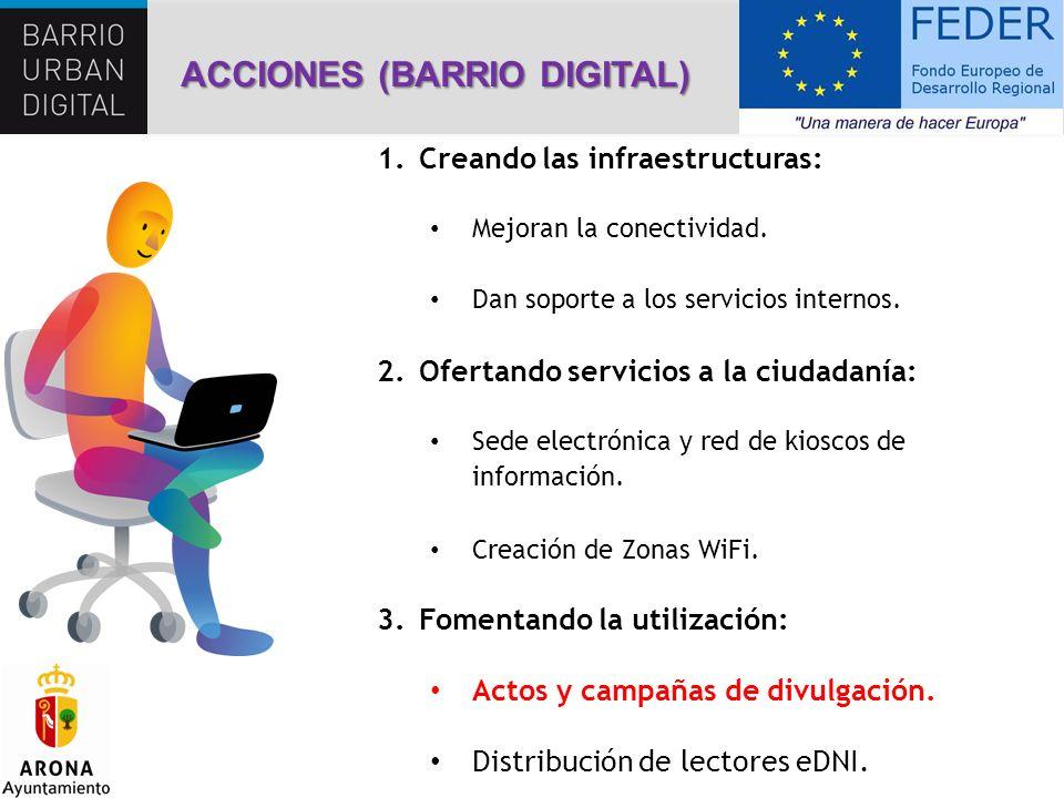 1.Creando las infraestructuras: Mejoran la conectividad. Dan soporte a los servicios internos. 2.Ofertando servicios a la ciudadanía: Sede electrónica