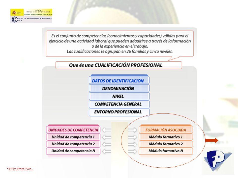 A cada cualificación se le asigna una competencia profesional general que define los cometidos y funciones esenciales del profesional © Francisco Javier Rodríguez Rodríguez ATD de Formación Profesional.