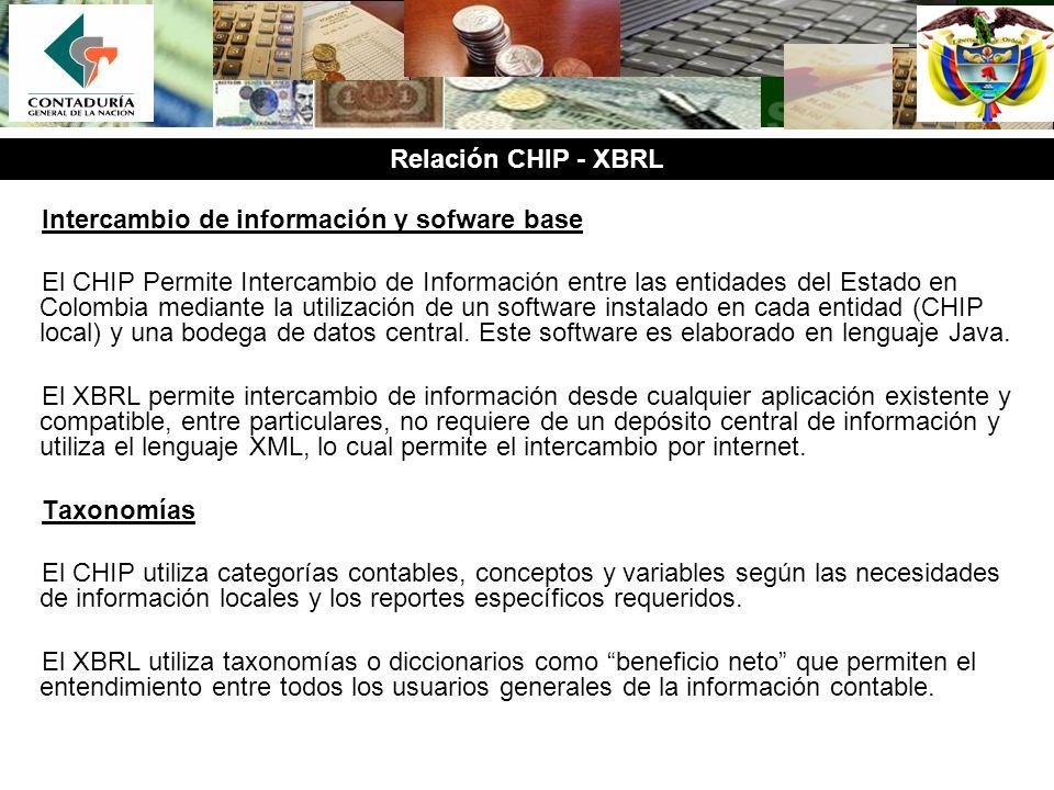 Intercambio de información y sofware base El CHIP Permite Intercambio de Información entre las entidades del Estado en Colombia mediante la utilizació