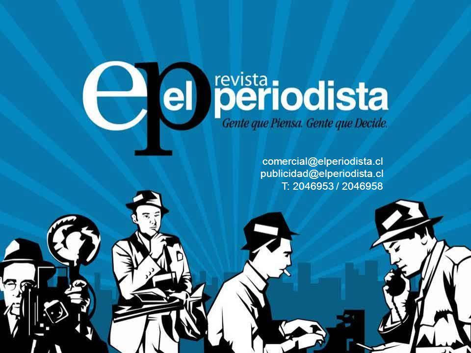 comercial@elperiodista.cl publicidad@elperiodista.cl T: 2046953 / 2046958