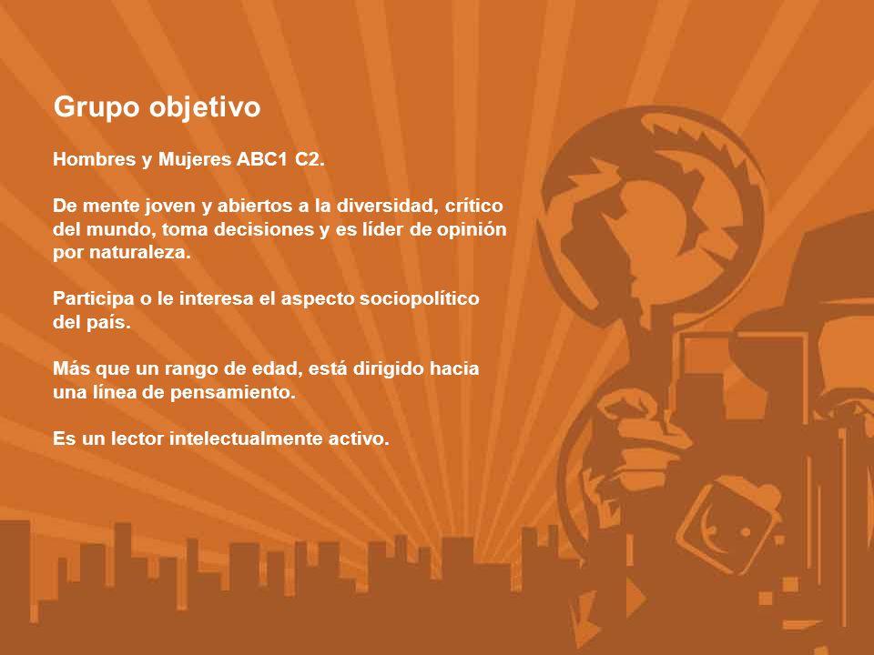 Grupo objetivo Estudio Kantar Media Research Chile.