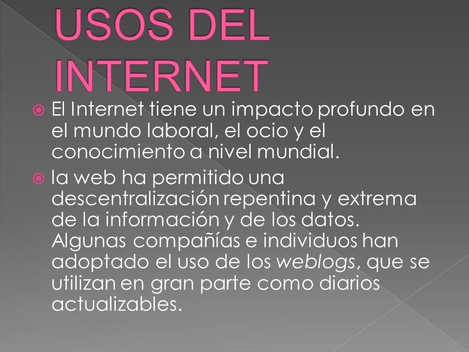 El Internet ha llegado a gran parte de los hogares y de las empresas y se ha abierto una brecha digital con los países pobres, en los cuales la penetración de Internet y las nuevas tecnologías es muy limitada para las personas.