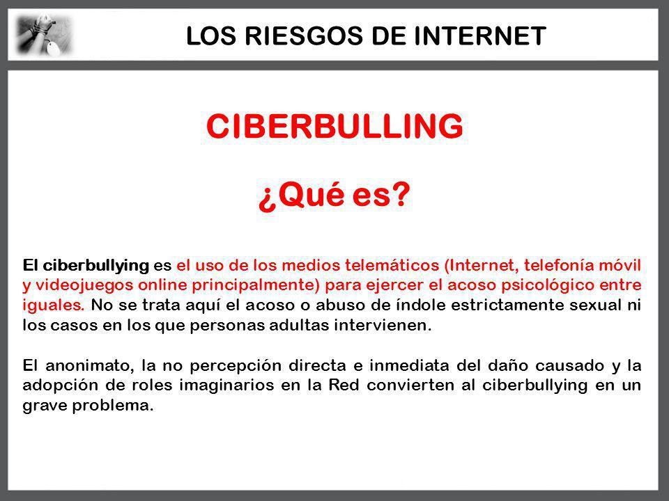 CIBERBULLING El ciberbullying es el uso de los medios telemáticos (Internet, telefonía móvil y videojuegos online principalmente) para ejercer el acos