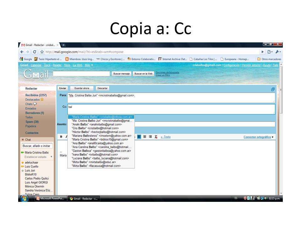 Copia a: Cc