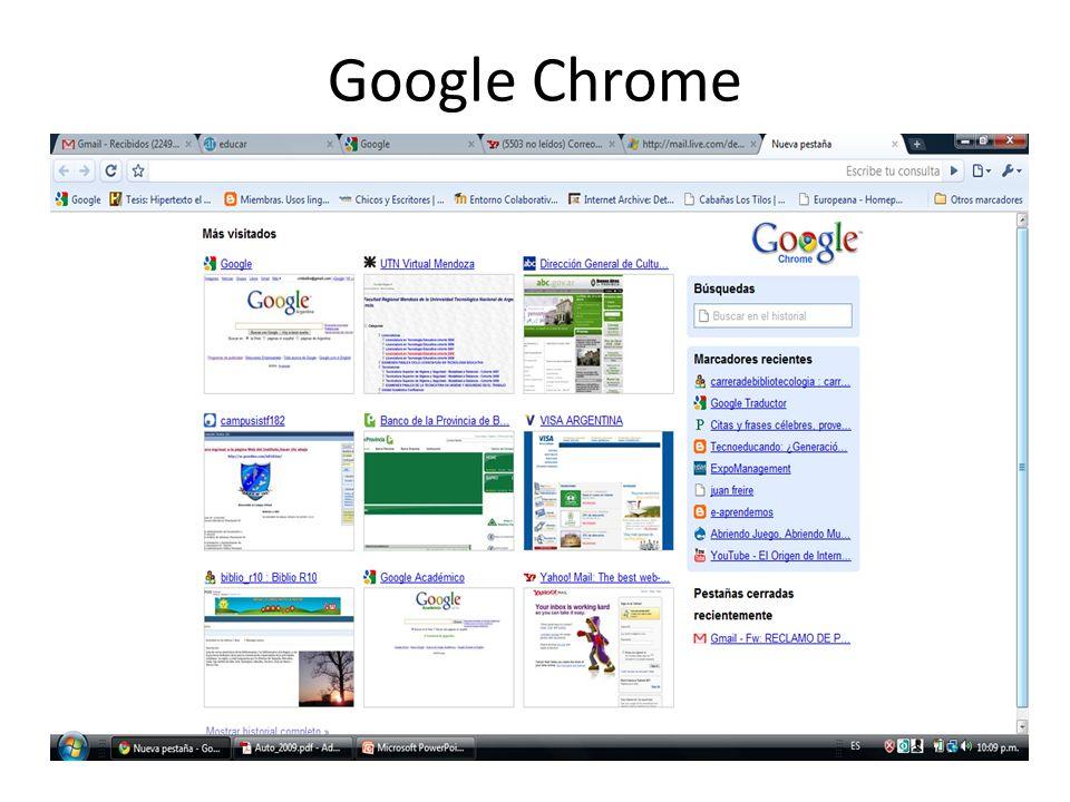 Marcadores Google Chrome