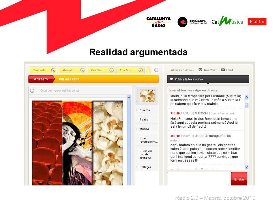 Realidad argumentada Radio 2.0 – Madrid, octubre 2010