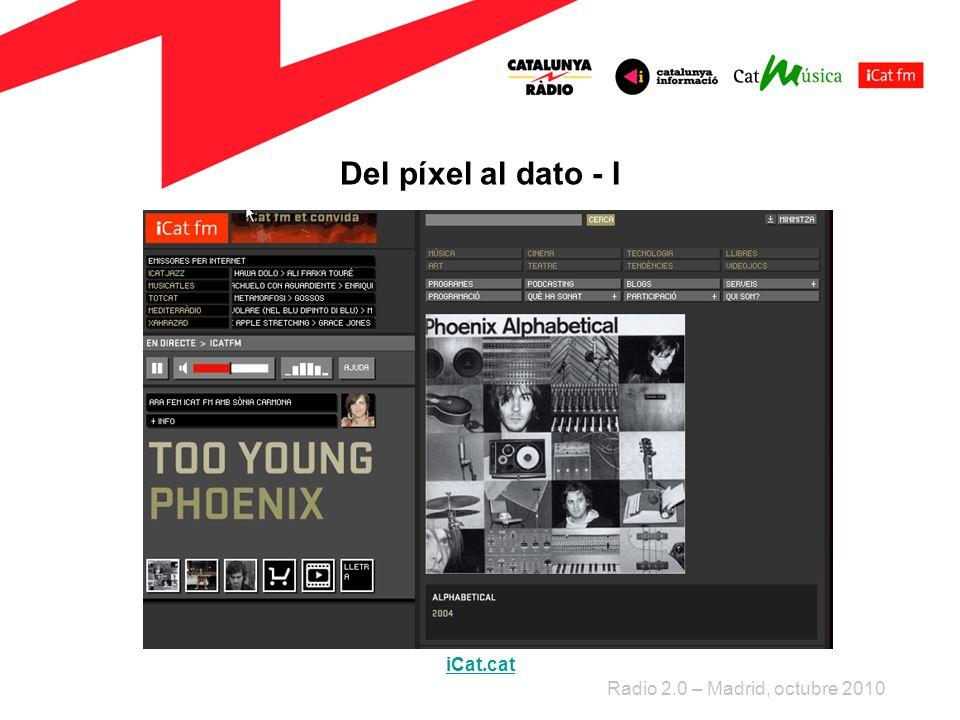 Del píxel al dato - I Radio 2.0 – Madrid, octubre 2010 iCat.cat