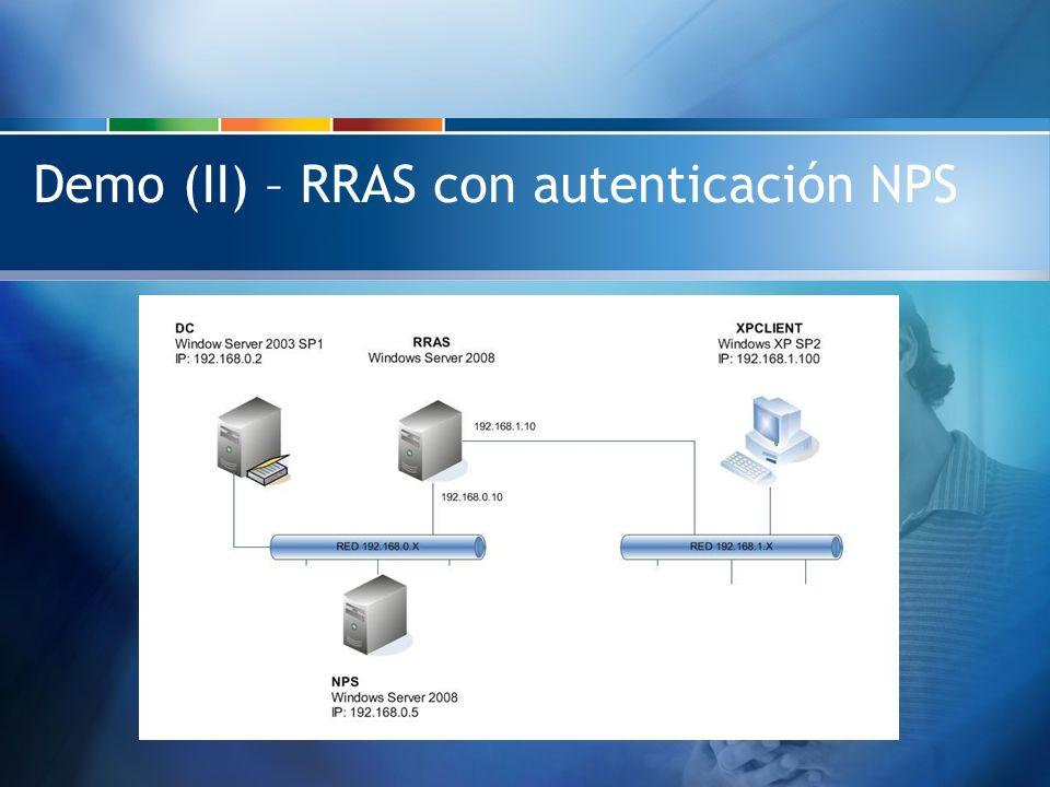 Demo (II) – RRAS con autenticación NPS