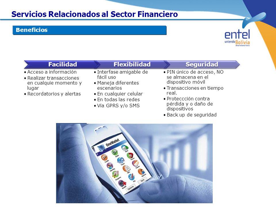 Facilidad Acceso a información Realizar transacciones en cualquie momento y lugar Recordatorios y alertas Flexibilidad Interfase amigable de fácil uso