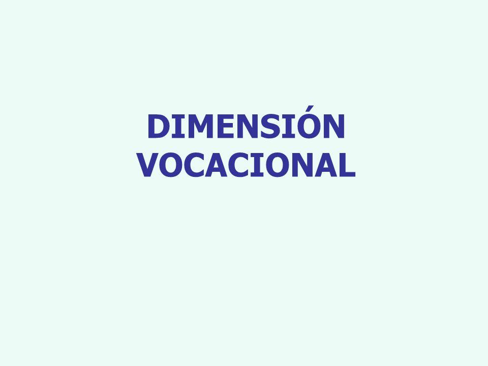 DIMENSIÓN VOCACIONAL