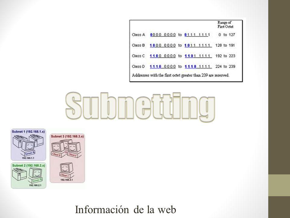 Segmentación lógica IP.