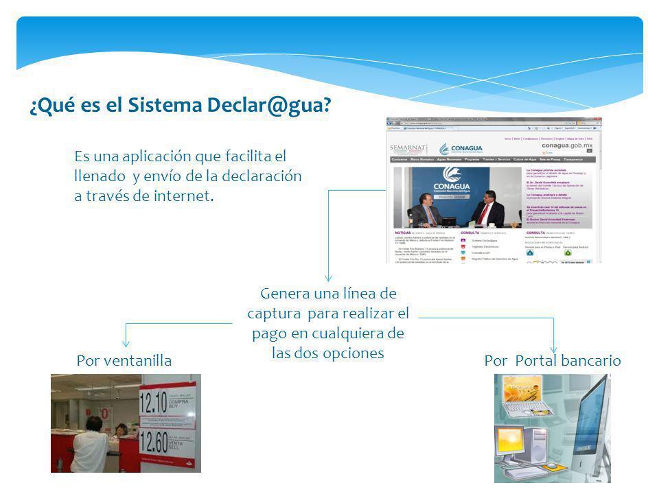 ¿Qué es el Sistema Declar@gua? Es una aplicación que facilita el llenado y envío de la declaración a través de internet. Genera una línea de captura p